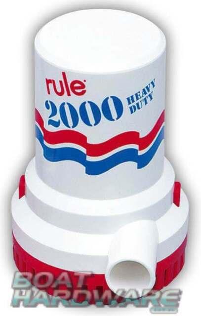 GENUINE Rule 12V BILGE PUMP Electric Submersible 2000 GPH or 7570 LPH 3YR WTY
