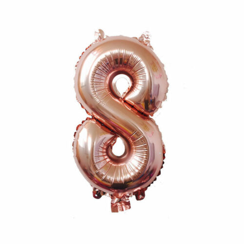 """32/""""//40/"""" Giant Rose Gold 0-9 Number Foil Helium Balloon Kids Birthday Party"""