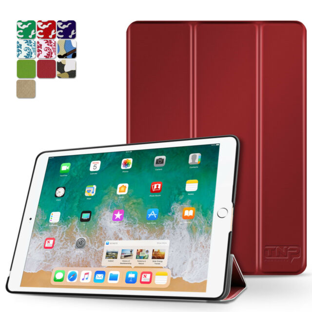 "iPad Pro 9.7 Case Smart Cover Stand Hard Back Auto Sleep Wake 9.7"" 2016 Red"