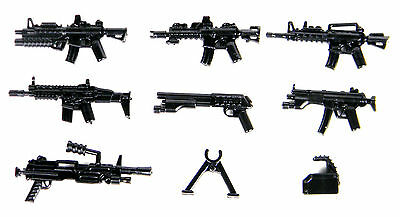 Custom Guns Army weapons pack fit with minifigures including LEGO(R)
