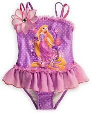 Disney Store Tangled Rapunzel Swimsuit Size 7/8 Purple