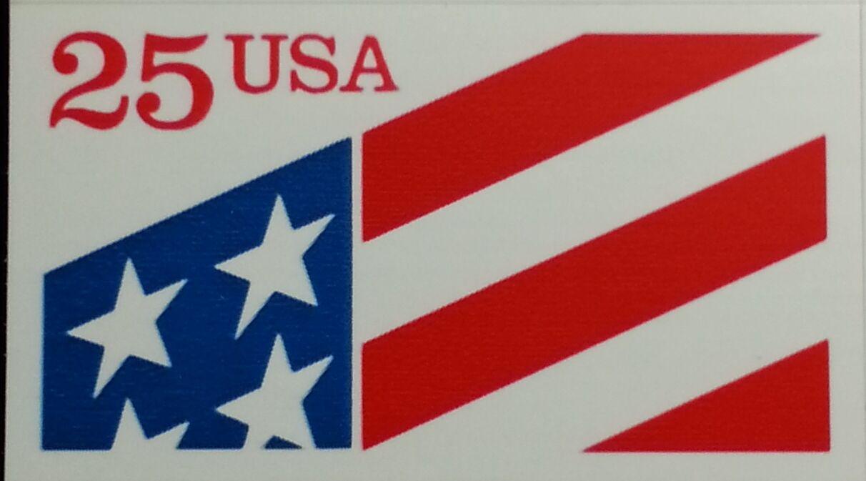 1990 25c ATM Self Adhesive, Plastic Stamp Scott 2475 Mi