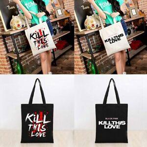 Kpop-BLACKPINK-KILL-THIS-LOVE-Canvas-Handbag-Women-Shoulder-Bag-Student-Book-Bag