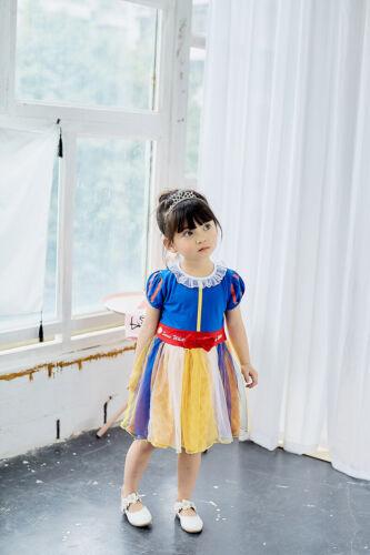 ZG9 Baby Toddler Girls Princess Tutu Dress Costume Elsa, Ariel, Snow White
