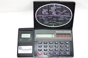 Vintage Rochester Tel (RCI) Solar Calculator
