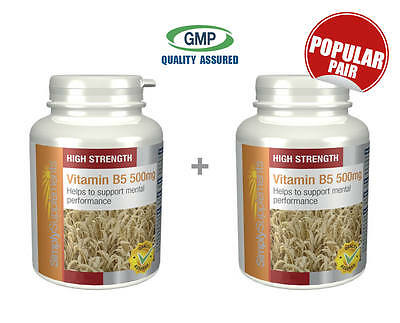 Vitamin B5 500mg BUNDLE DEAL 180+180 (360) Tablets Stress, Energy, Skin, Fatigue