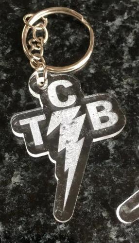 Lot de 2 2x Elvis TCB Porte-clés//Fob gravé Acrylique Transparent