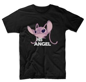New-His-Angel-Cute-Disney-Matching-T-Shirts-Unisex-Black