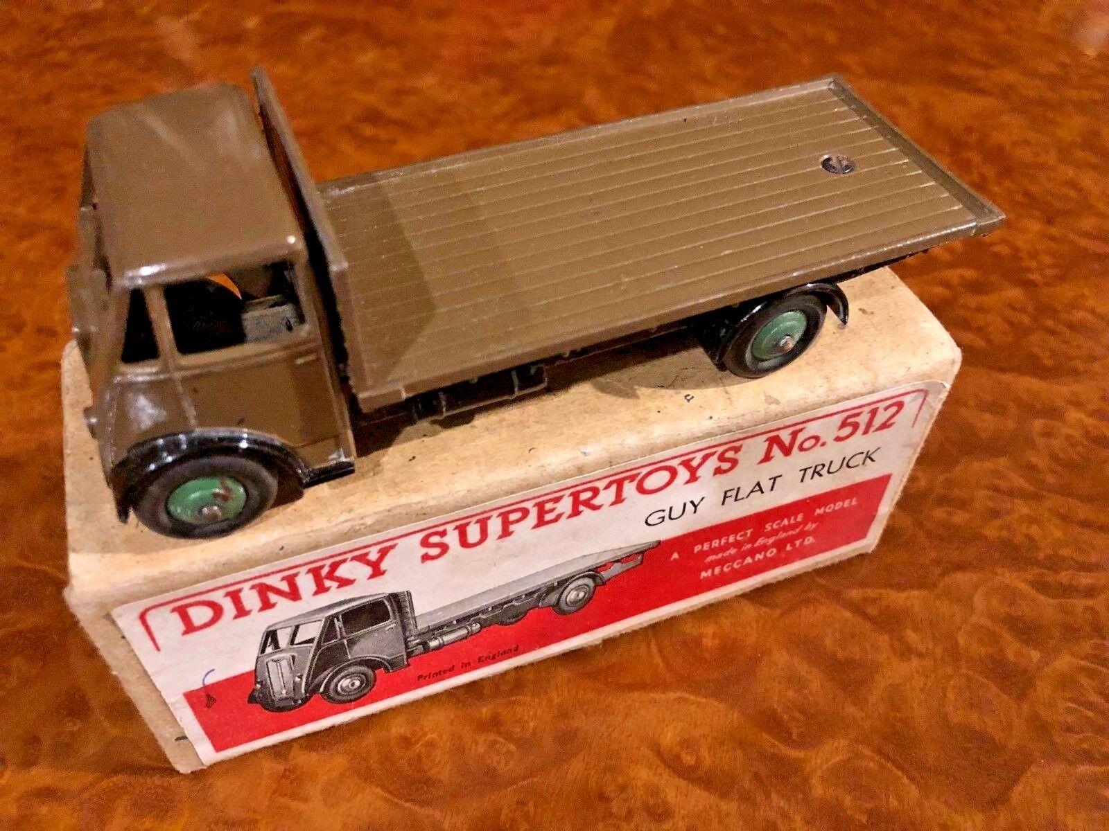 Vintage Dinky Supertoys MIB Guy Lit Plat Rare Couleur N0. 512