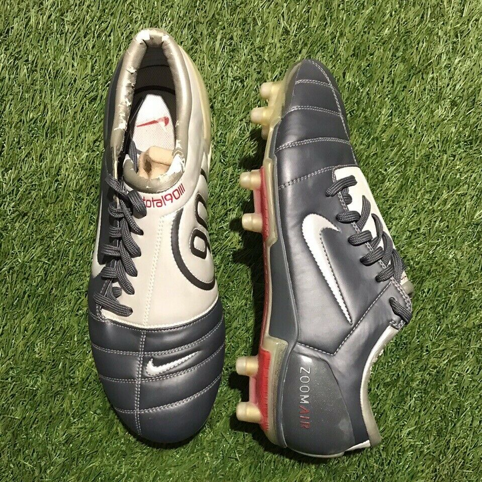 Nike Air Zoom Total 90 III FG nos Luis Figo, Raro 308229-011 9.5