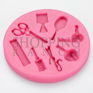 Image Is Loading Hairdresser Hairdressing Silicone Mould Hair Dressing Themed Cake