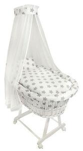 Baby Bollerwagen Weiss Babykorb Bettwäsche Untergestell EU-Produkt Design 5 NEU