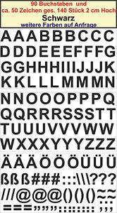 Details Zu 90 Buchstaben 50 Zeichen 2 Cm Hoch Sticker Aufkleber Schwarz