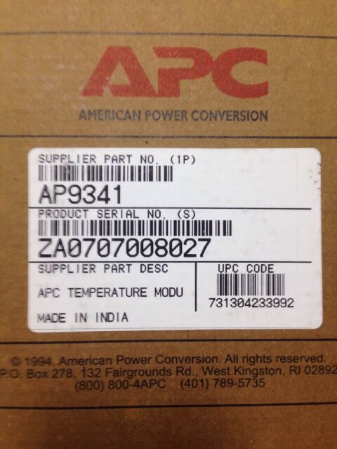APC AP9341 Temperature Module EXPANSION UNIT TEMP/HUMP ALARM POINT MONITOR NIB