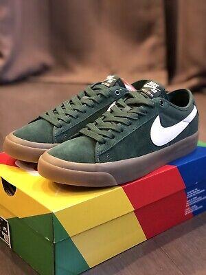 Nike SB Zoom Blazer Low Pro GT QS Green/Gum DC0603-300 SIZE 6 ...