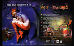 OF-LIGHT-AND-DARKNESS-The-PROPHECY-Original-1998-Trade-AD-PC-game-promo-poster