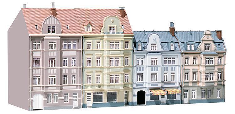 Faller 130915; 4 CASE CASE riga goethstraße 500x180x245 NUOVO OVP