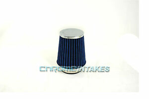 """RED UNIVERSAL 3/"""" 76mm SMALL AIR FILTER FOR LEXUS//TOYOTA SHORT//COLD AIR INTAKE"""