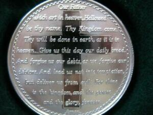 1-OZ-PURE-999-PURE-SILVER-THE-LORDS-PRAYER-ENGRAVABLE-NICE-GIFT