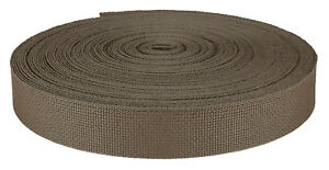 1 Inch Coyote Brown Medium Weight Nylon Webbing Closeout, 10 Yards