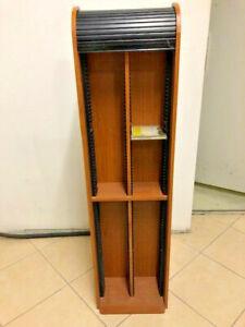 Étagère rangement à rideau  CD / DVD meuble rangement-144 CD +8 doubles - TBE