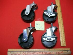 """NEW SET OF 4 CHAR-BROIL GRILL SWIVEL 2.75"""" CASTERS 2-LOCKING 2-NON LOCKING WHEEL"""