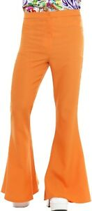 Costume Pour 1970 Orange Déguisement Années Évasés Détails Sur Hippie Pantalon Hommes 1960s wvmn08N