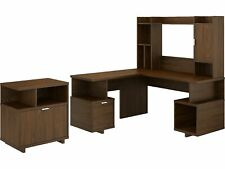 Kathy Ireland Home By Bush Furniture 60 L Shaped Desk With Hutch And File