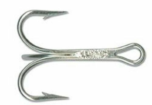 25 Mustad 3561ed 2//0 Superior Point Treble Hook Ringed Duratin 3 Extra Strong for sale online