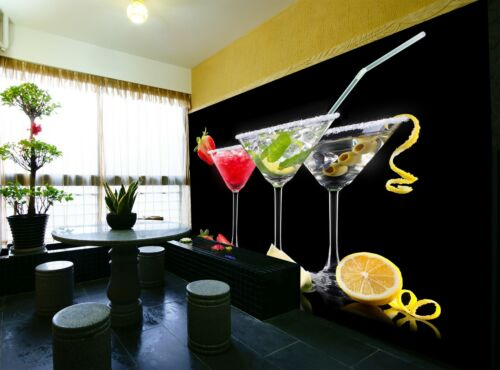 Cocktail Set   Wall Mural Photo Wallpaper GIANT WALL DECOR Free Glue