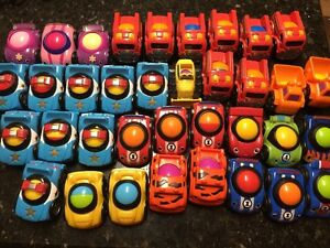 36 Fisher Price Lil Zoomers Cars Trucks Construction Police Racers Wheelies
