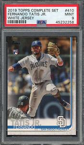 Fernando Tatis Jr San Diego Padres 2019 Topps Baseball Rookie Card #410 PSA 9