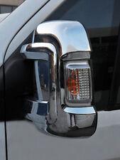 CHROME DOOR WING MIRROR TRIM SET COVERS CAPS FOR FIAT DUCATO