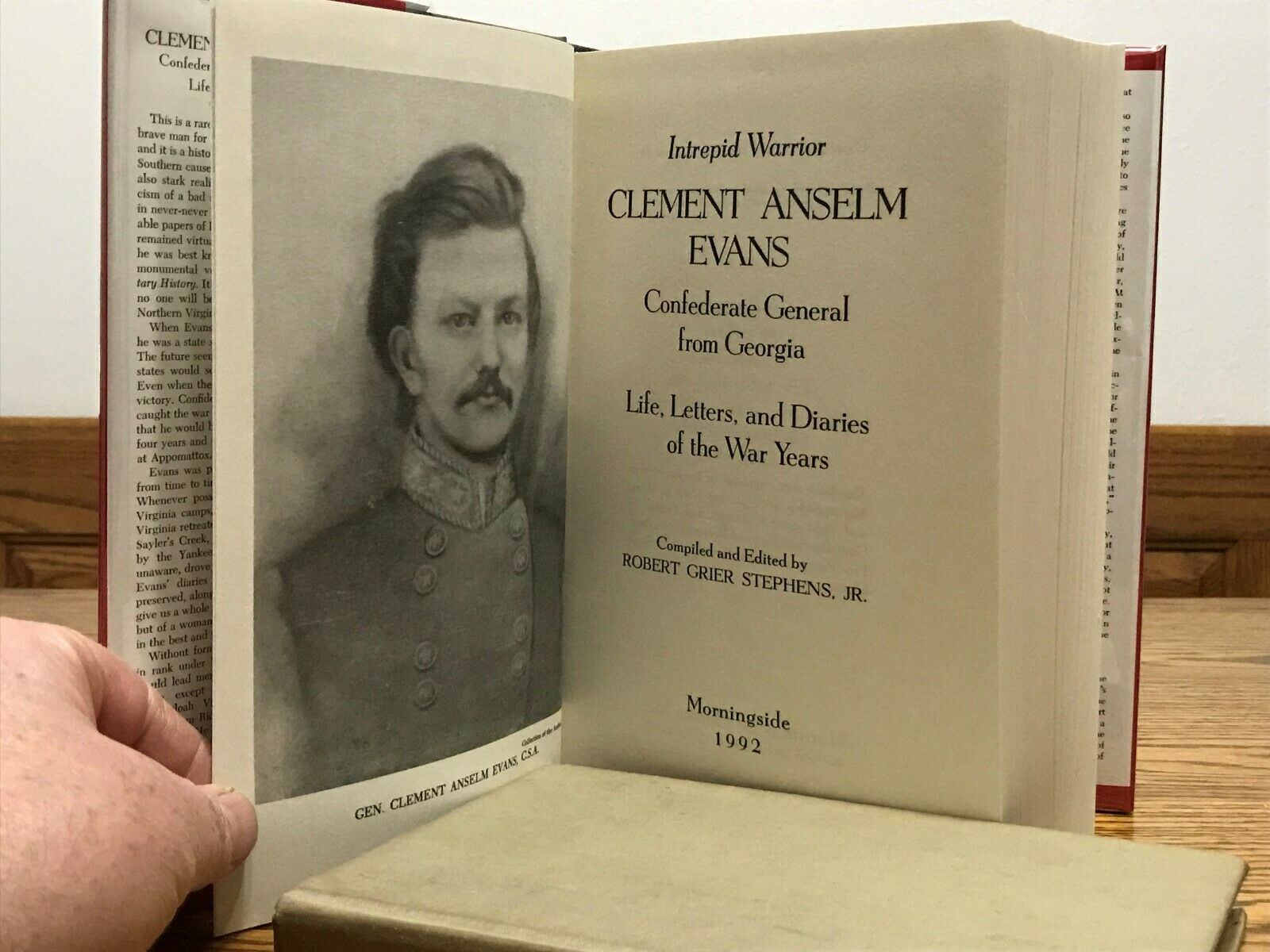 Image result for (Intrepid Warrior, Clement Anselm Evans: Confederate General from Georgia, Life, Letters and Diaries, Robert G. Stephens,,