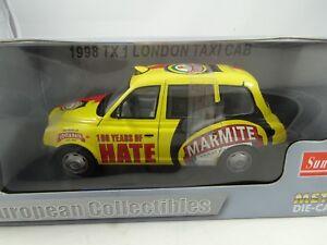 01:18 Sun Star # 1122 - 1998 Tx1 London Taxi Taxi Jaune / Rouge Rare