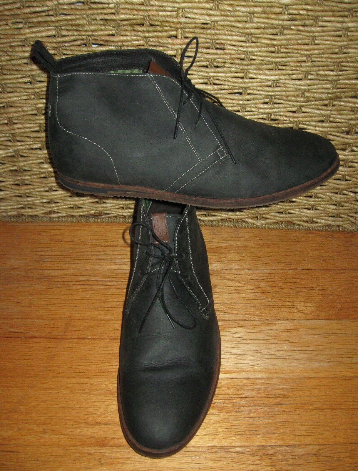Ben sherman uomini di pelle verde - chukka lace-up stivali taglia 12