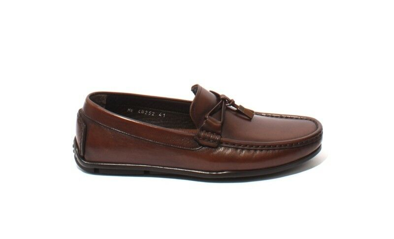 ROBERTO SERPENTINI 48252a Brown Pelle Tassel Moccasins Moccasins Moccasins Loafers 41 / US 8 491e70