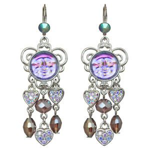 Kirks-Folly-Seaview-Water-Moon-Lots-Of-Love-Leverback-Earrings-Silvertone