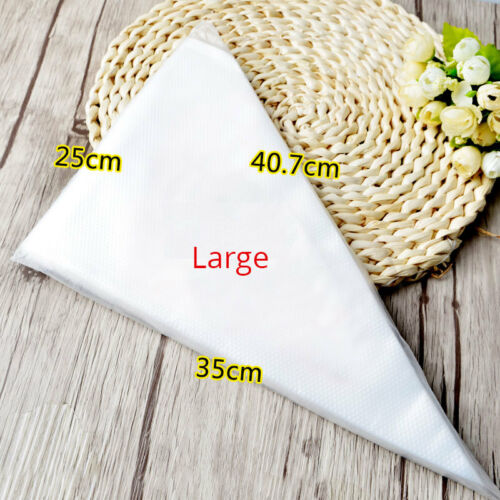 50//100 Cake Decor Tool Icing Piping Bags 3 Size Pastry Disposable Cream Bags