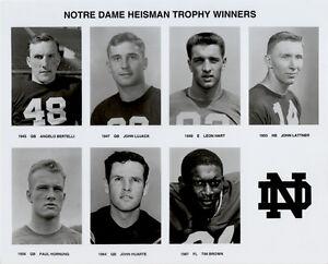 Details about Notre Dame Heisman Trophy Winners, 8x10 B&W Photo