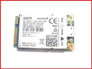 Dell-Wireless-5530-HSPA-3G-GPS-Mini-Card-WWAN-Ericsson-F3507G-C687R-E6500-E6400
