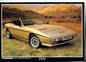 ★★1981 TVR TASMIN SPEC SHEET BROCHURE INFO PHOTO 80-88 1980 1982 1983 1984 1988