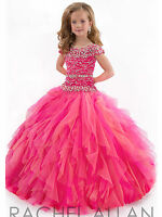 Flower Girl Dress Pageant Party Dance Wedding Birthday Gown size 4  6 8 10 12 14