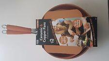 2 Piece Ceramic Induction Non-Stick Copper Cookware 24cm & 28cm Round Frying Pan