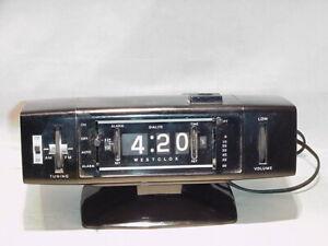 WESTCLOX-MODEL-80076-SAARINEN-PEDESTOL-BASE-DIGITAL-FLIP-RADIO-ALARM-CLOCK