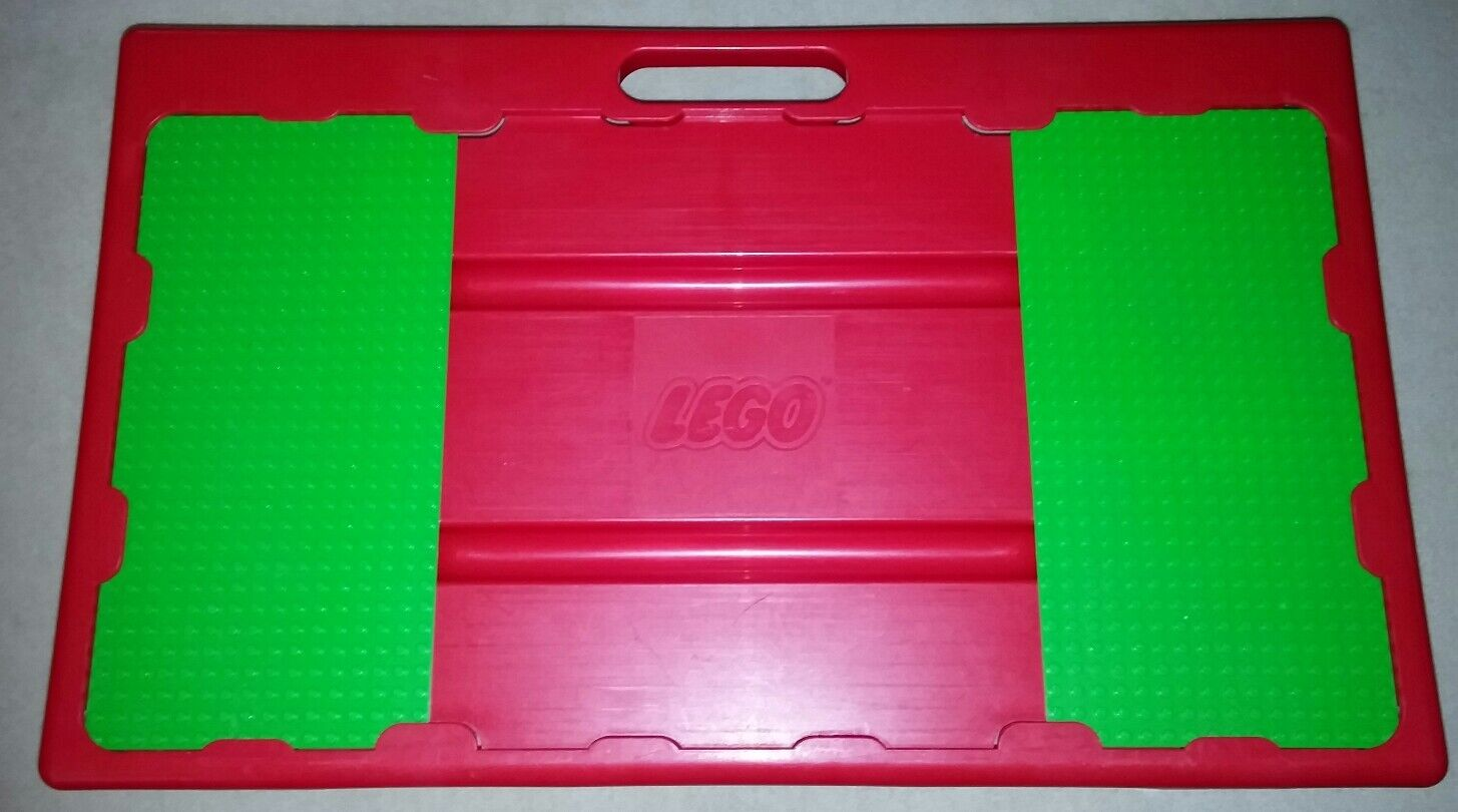 1998 Lego Storage Red Lap Desk Travel Table Carry Case
