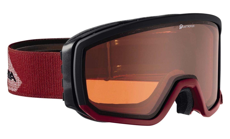Alpina Scarabeo QH Skibrille - - - schwarz rot d13795
