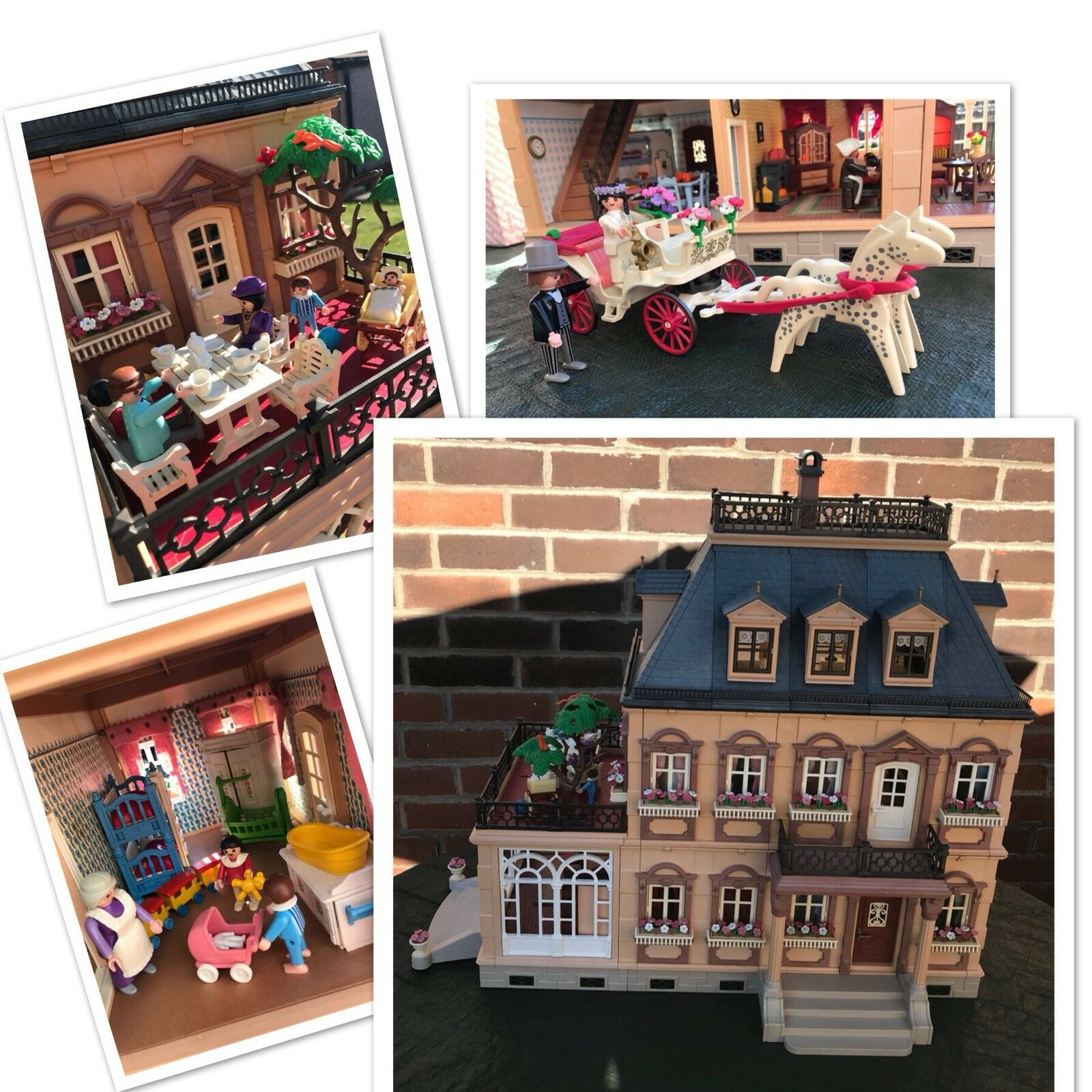 Playmobil Victorian Mansion Dolls House Furniture 5300 Bride Groom Carriage 5509