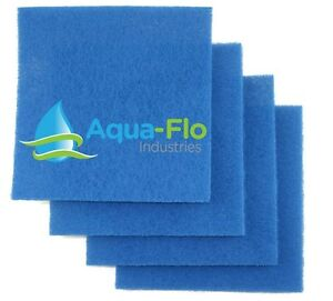 """4 Pack Candid 12"""" X 12"""" X 1"""" Pondmaster Fish Pond Aquarium Filter Pads Media With The Most Up-To-Date Equipment And Techniques"""