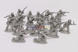 **100PCS** New Plastic Army Men 5cm 1/35 Figures Military Set Toy Soldier - Grey